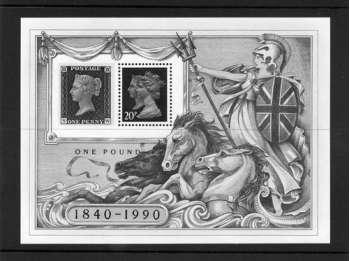 Great Britain 1990 Penny Black Stamp World London Miniature