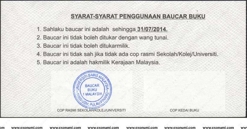 Baucer Buku 1malaysia Bb1m 2014